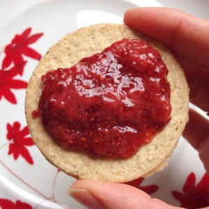 Oat Cakes with homemade jam