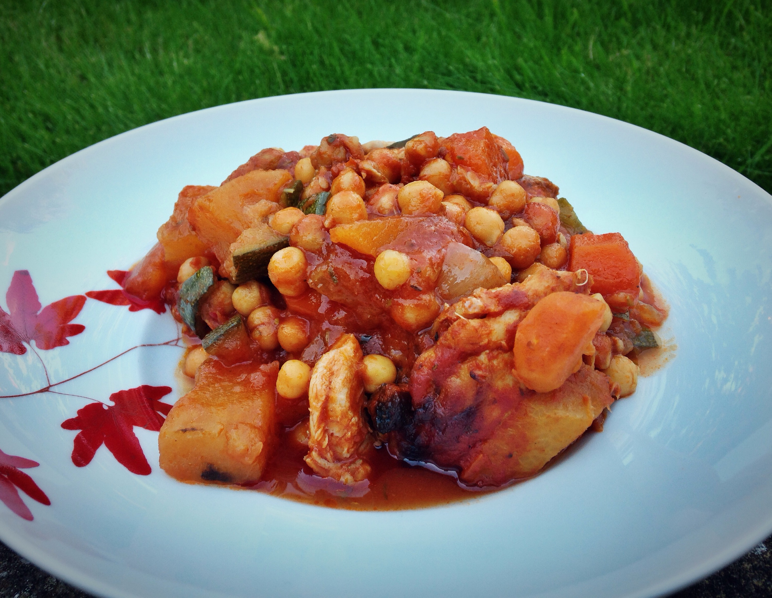 chicken and chickpea casserole