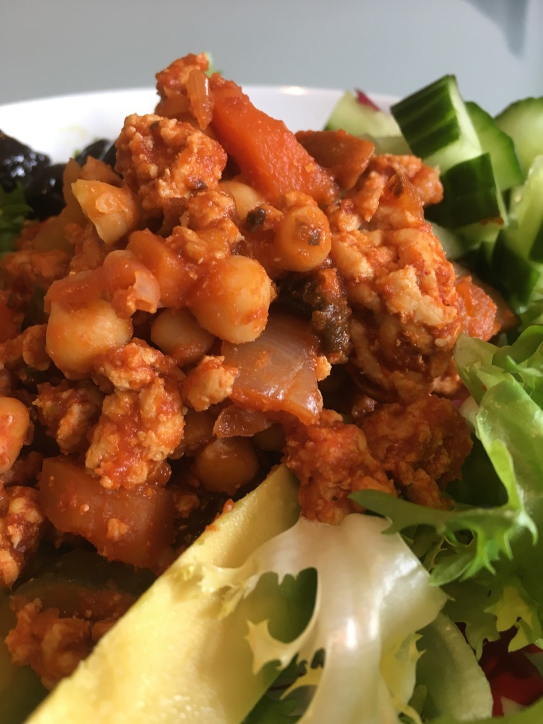 Moroccan turkey with chickpeas